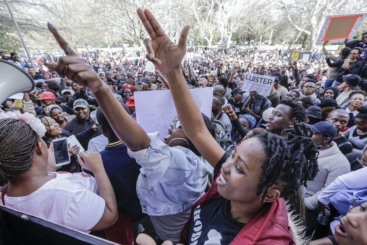 Black students protest discrimination - Times Media-Adrian de Kock