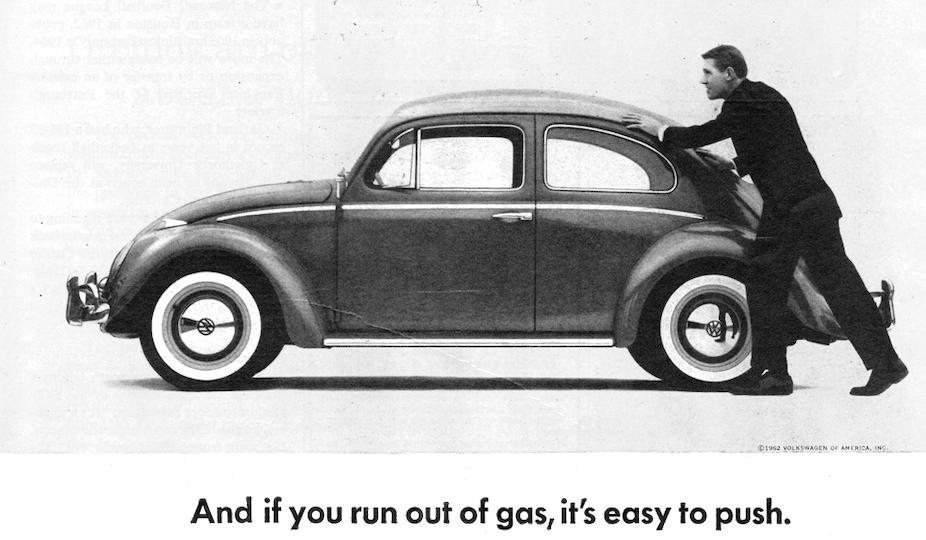 volkswagen crisis brand  invented modern advertising  dented