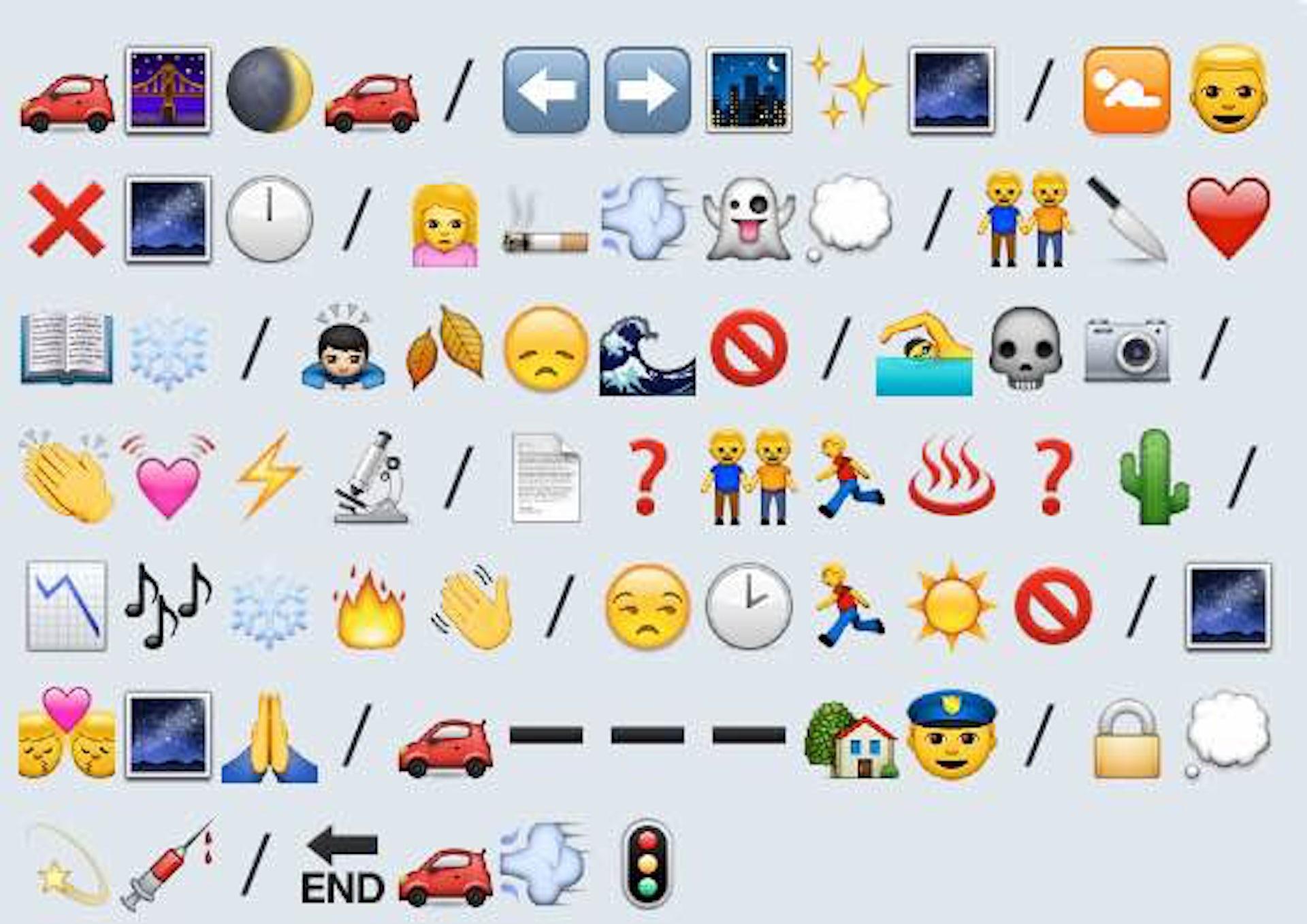 emoji sentences game