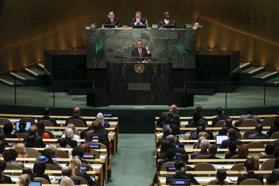 The UN s Sustainable Development Goals Summit drew an unprecedented show of  support from the General Assembly of nations. Reuters Mike Segar 0f2400f8855a1