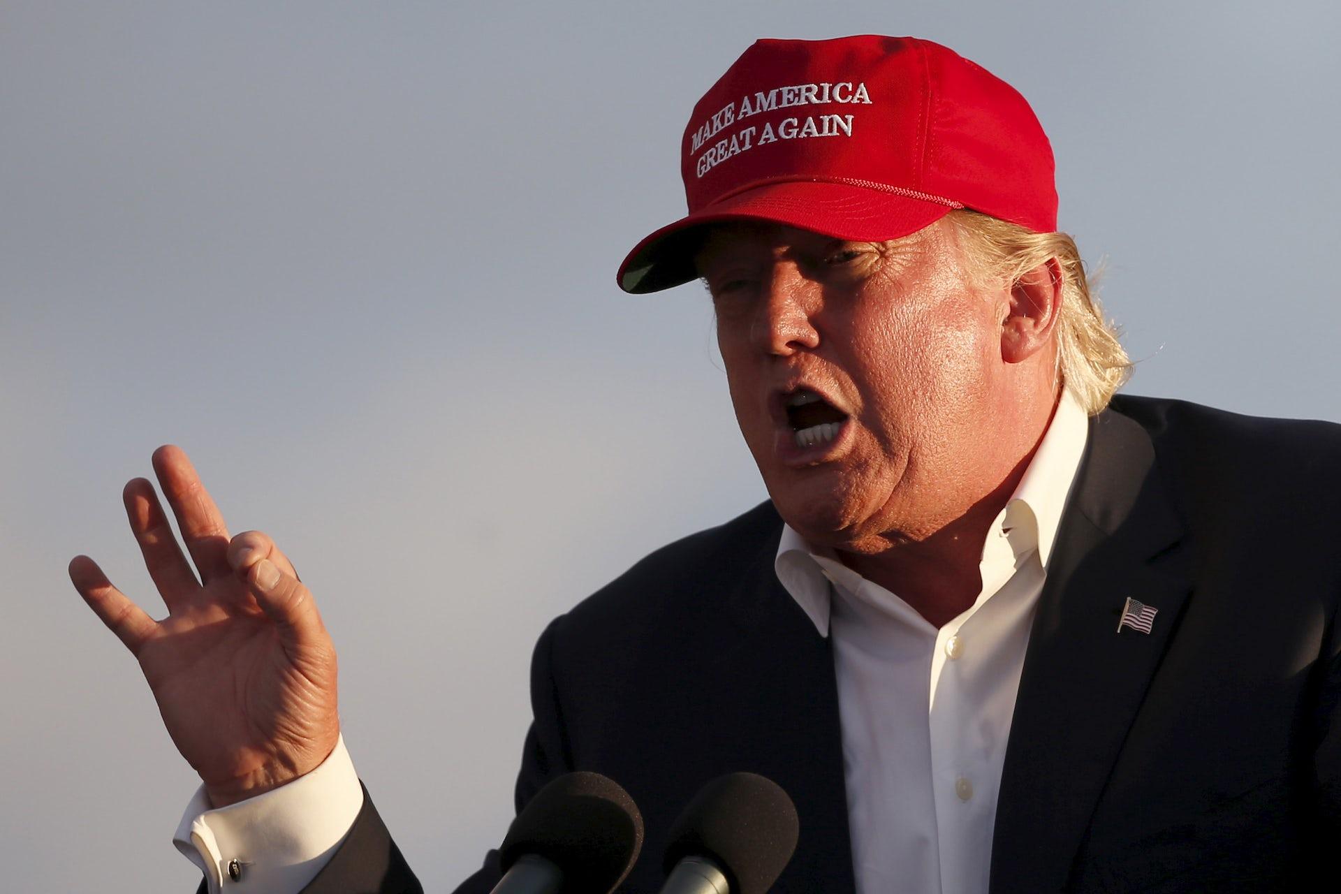 Trump Make America Great Logo Blue MAGA Mens Political Tank Top