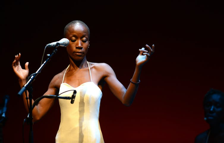 Rokia Traoré's poetic lyrics expand the themes of love, jealously and pride in Desdemona. Mark Allan/Melbourne Festival