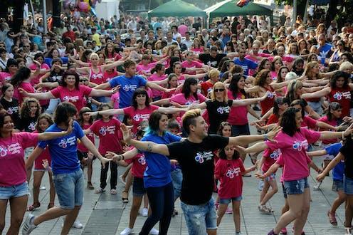 Because im happy flashmob